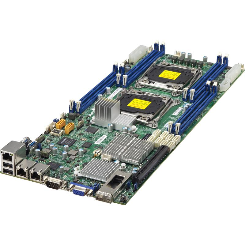 Server Barebone 1U TwinPro with Two DP Nodes - Per Node : Dual Intel Xeon E5-2600 v4/v3 Sockets, supporting up to 1TB DDR4 ECC 3DS LRDIMM, up to 2400MHz in 8x 288-pin slots