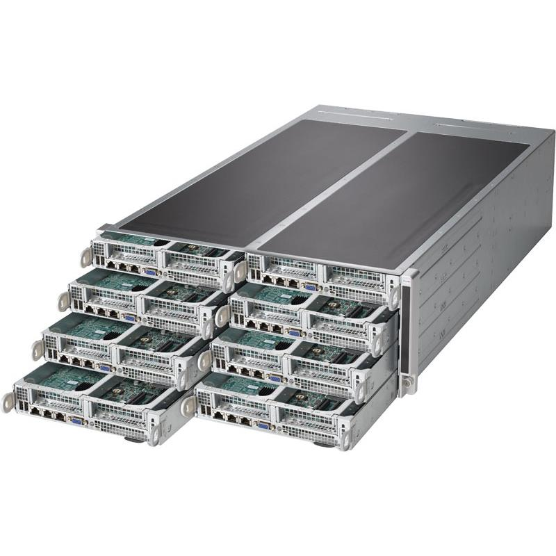 Server 4U Rackmount FatTwin with 8 Systems (Nodes) - Each Node Supports : Up to two Intel Xeon E5-2600 V4/v3 series
