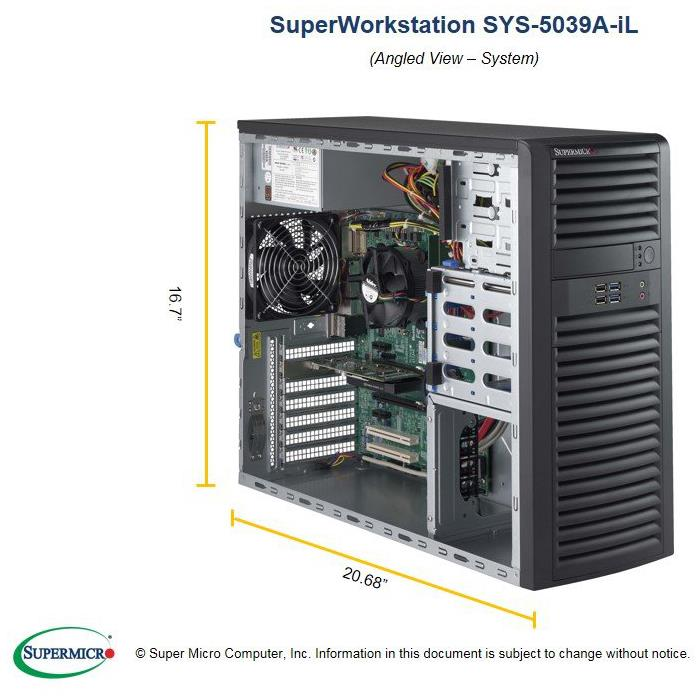 Mid-Tower Single Socket H4 (LGA 1151) supports Intel Xeon E3-1200 v5, Intel 6th Gen. Core i7/i5/i3 series processors