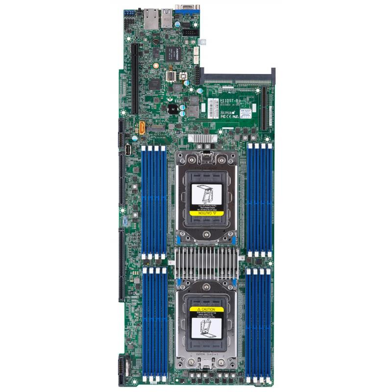 Barebone 2U Rack Server Socket-SP3 for Dual AMD EPYC 7000-Series Processors, 4x hot-pluggable systems (Nodes). Each node supports up to 2TB DDR4 Registered ECC 2666Mhz SDRAM in 16 DIMM slots