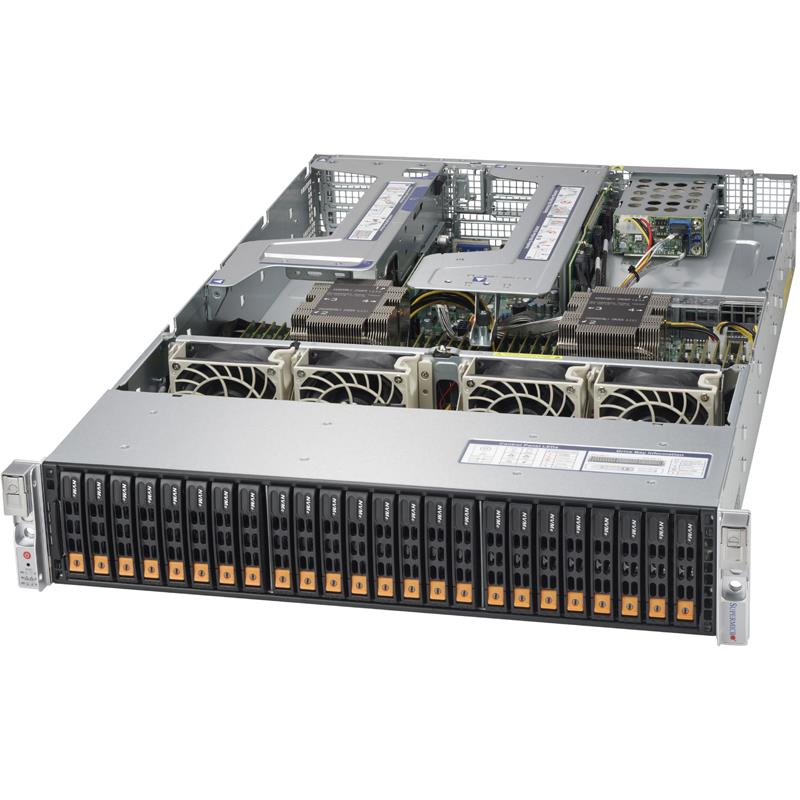 Barebone 2U Rack for 2x Xeon Scalable Processor Gen. 2, Supports up to 6TB DDR4 2933MHz ECC LRDIMM --- Complete System Only (Must Include CPU, MEM, HDD)
