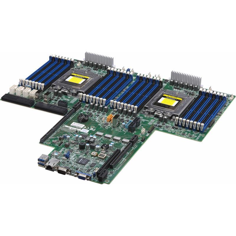 Barebone 2U Rack Server Socket-SP3 for Dual AMD EPYC 7000-Series Processors, support up to 4TB DDR4 Registered ECC 2666Mhz SDRAM in 32 DIMM slots