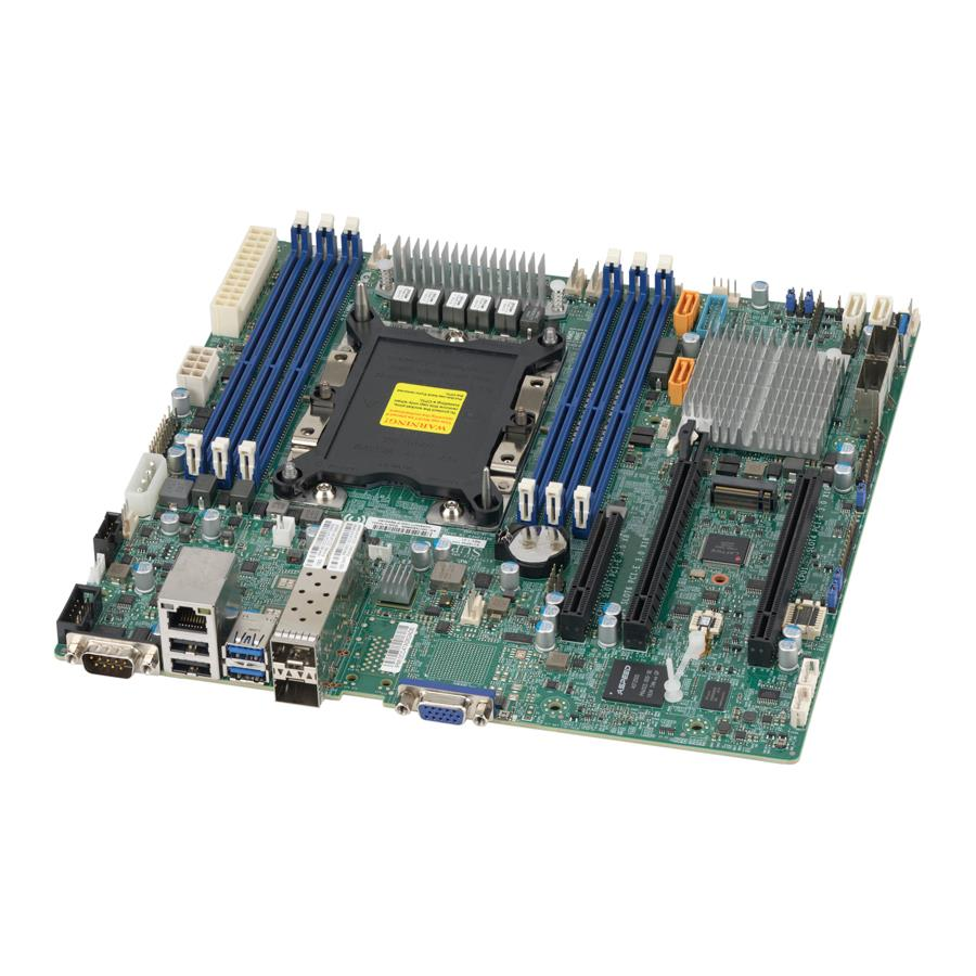 Motherboard Intel Xeon Processor Scalable Gen.2 Family Intel C622 chipset Single Socket P, Up to 1.5TB ECC 3DS LRDIMM Up to DDR4-2933MHz, 6 x DIMM slots, 2 x 10G SFP+, 12 x SATA3 (6Gbps) via C622, 11 x USB 3.0