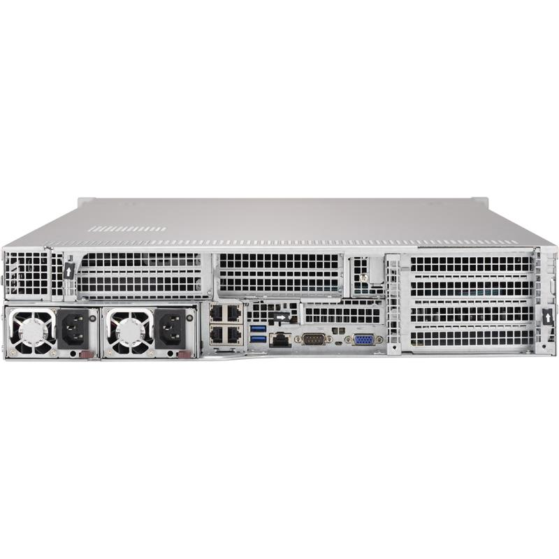 Barebone 2U Rackmount SuperServer, Quad Intel Xeon Scalable Processors Gen. 2, Intel C621 chipset, Up to 12TB DDR4 ECC 2933MHz memory, 24 SAS3 ports support via optional Add-on Cards, 24 Hot-swap 2.5in drive bays 4 Gigabit Ethernet ports --- Complete System Only (Must Include CPU and MEM)