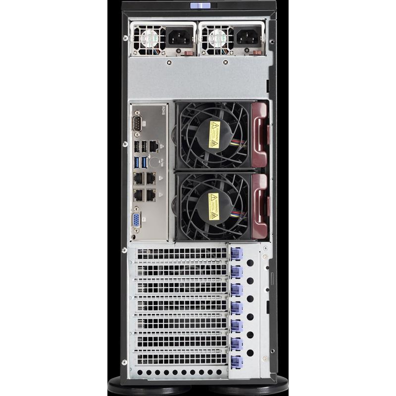 Server Barebone Tower / 4U for Dual Intel Xeon processor E5-2600 v4/v3 families