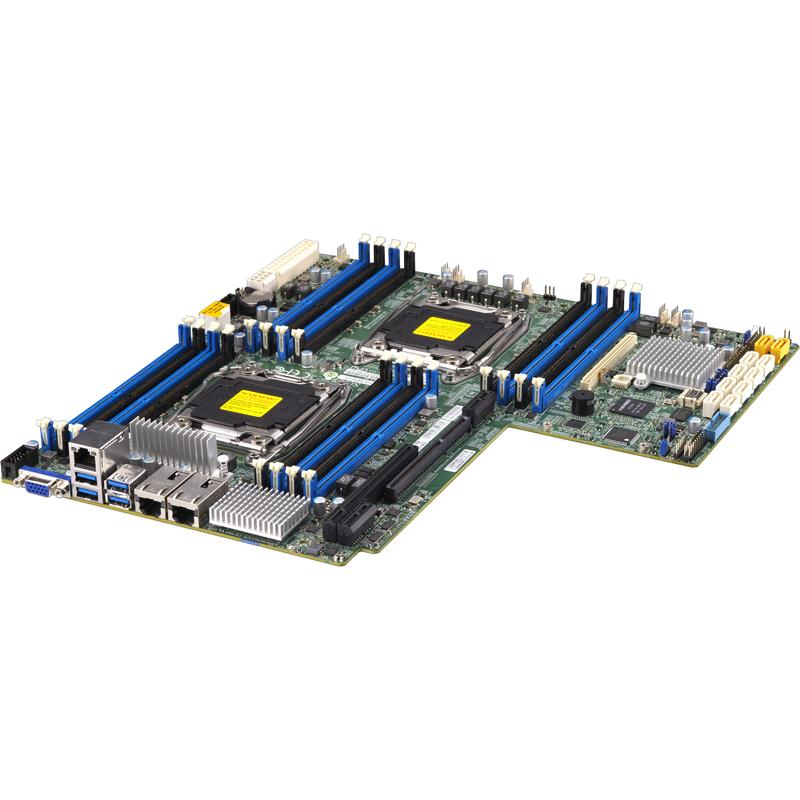 Server Barebone 1U with Dual Intel Xeon E5-2600 v4/v3 Sockets, supporting up to 2TB DDR4 ECC LRDIMM, up to 2400MHz in 16x 288-pin slots