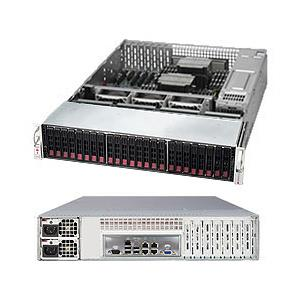 Barebone 2U SuperStorage Server for up to Dual Intel Xeon E5-2600 v4/v3 family processors