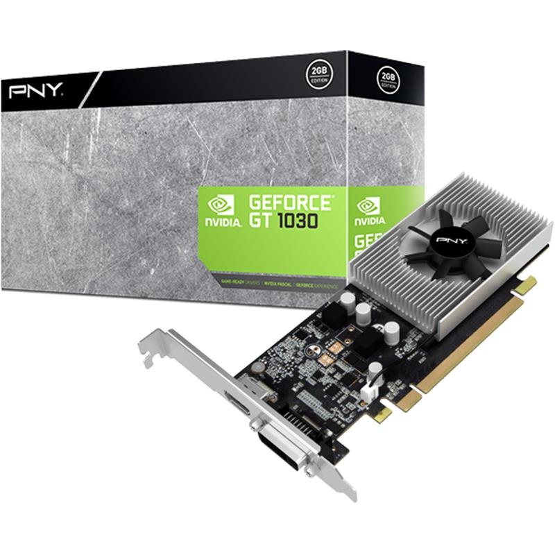 PNY VCGGT10302PB GeForce GTX 1030 Graphic Card - 1.2GHz Core - 2 GB GDDR5 - Low-profile