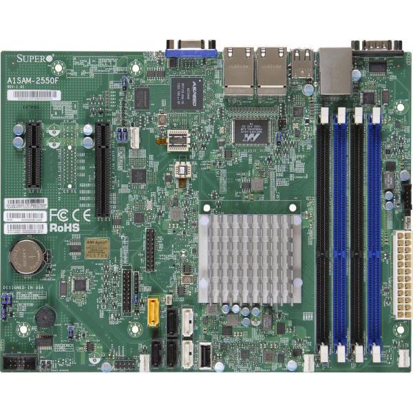 Supermicro MBD-A1SAM-2550F-B Motherboard MBD-A1SAM-2550F-B Atom C2550 64GB DDR3 PCI-Express SATA USB2.0 microATX