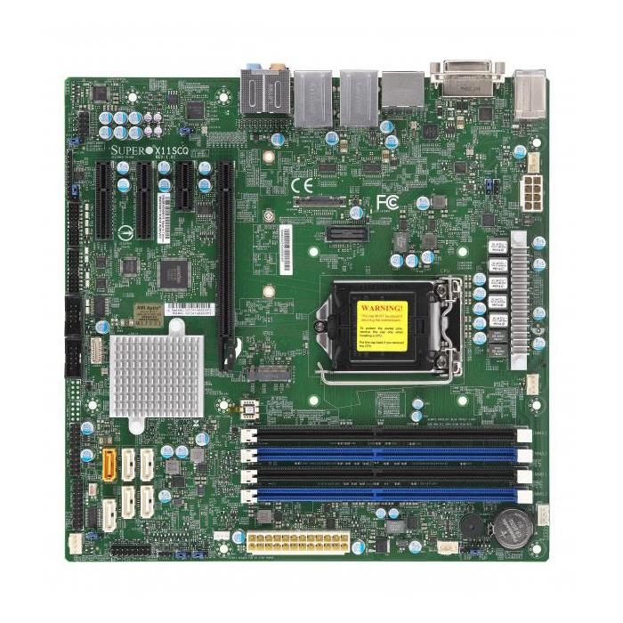 Supermicro X11SCQ Motherboard uATX Single Socket H4 (LGA 1151) for Intel 8th Generation Intel Core Processors - supports up to 64GB Unbuffered non-ECC-UDIMM in 4 memory slots