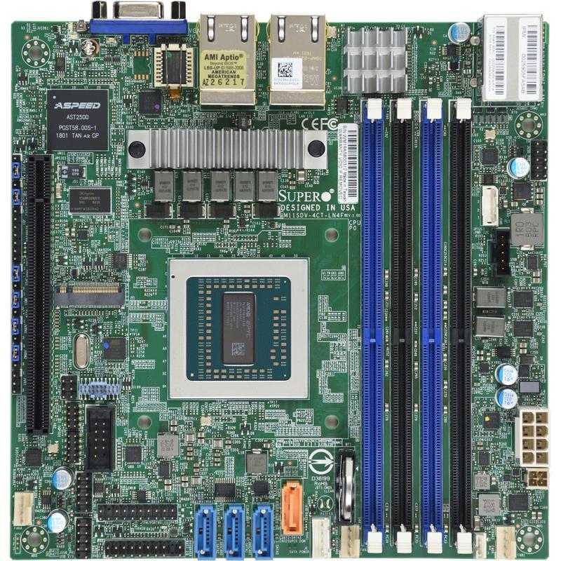 Supermicro M11SDV-4CT-LN4F Motherboard Mini-ITX with Embedded Singl
