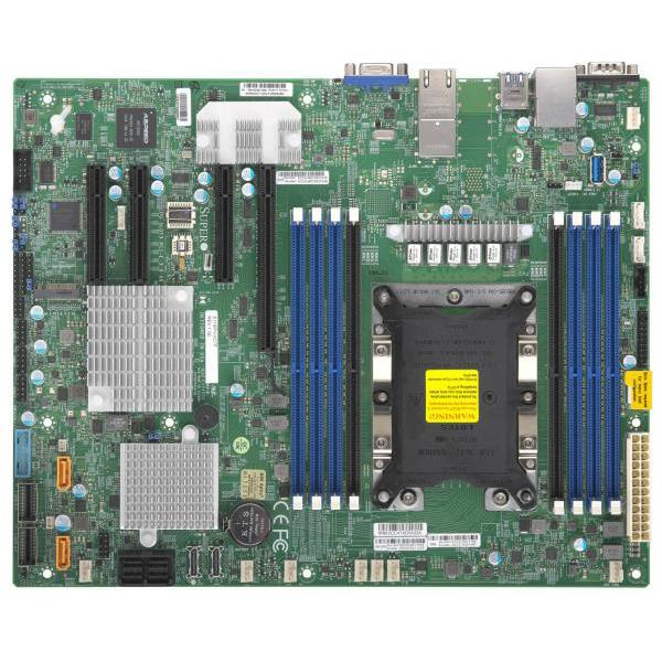 Supermicro X11SPH-NCTF-O Motherboard UP Xeon Intel Xeon Scalable Gen.2 Processors Socket P, up to 2TB DDR4 SDRAM, Chipset C622, Broadcom 3008 12Gb/s SAS