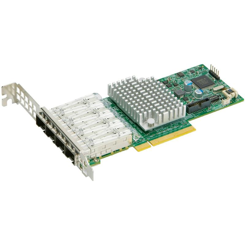 Supermicro AOC-STG-I4S 4-port 10GbE Standard LP with SFP+