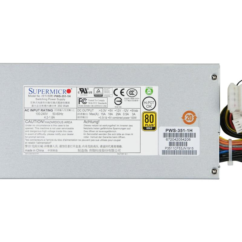 Supermicro PWS-351-1H Power Supply 350W 80 Plus Gold Certified