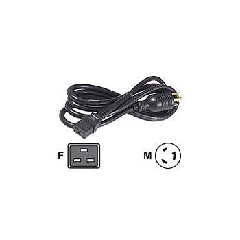APC AP9896 8FT POWER CORD 16A 208V C19 TO L6-30 -