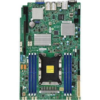 Supermicro X11SPW-CTF-O Motherboard Intel Xeon Processor Scalable Gen.2 Family Intel C622 chipset Single Socket P, Up to 1.5TB ECC 3DS LRDIMM 2933MHz, 6x DIMM slots, 2 x 10GbE LAN ports, 4 x SAS3 (12Gbps) via Broadcom 3008, 10 x SATA3 (6Gbps)