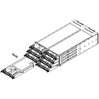Supermicro PIO-F617R2-F72+-NODE Spare Node for Twin Server